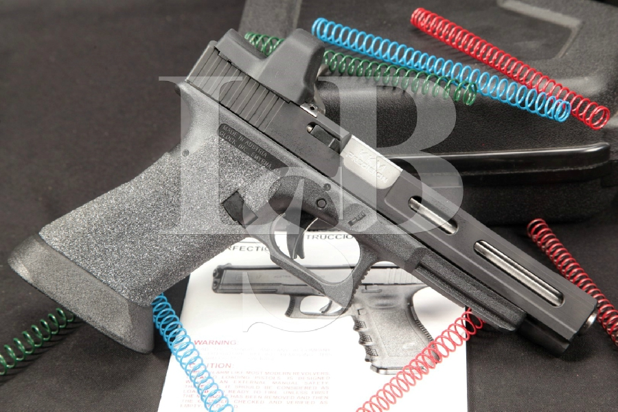 "Custom Zev / Glockworx Glock Model G35 / KKM Precision, Milled Slide, DLC Coated 5-1/4"" Semi Automatic Pistol Leupold Delta Point & 4 Mags"