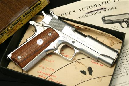 Armand Swenson Custom 1911 Colt Combat Commander .45 ACP, In The Box