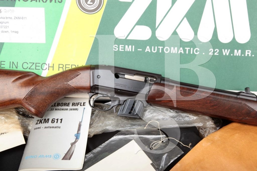 Cz-Brno Model Zkm-611, Blue 20 1/2″ Semi-Automatic Takedown Rifle, Box & Papers, MFD 1995 .22 Magnum
