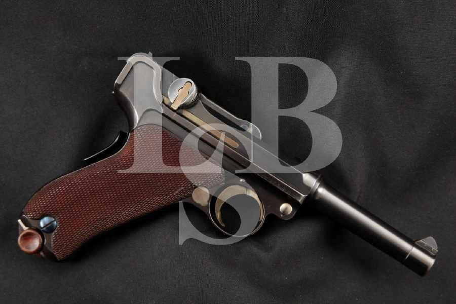 "DWM Model 1902 American Eagle Luger, Matching Numbers, Rare & SHARP Blue 4"" Pre-WWI Semi-Automatic Pistol, MFD 1902-1903 C&R"