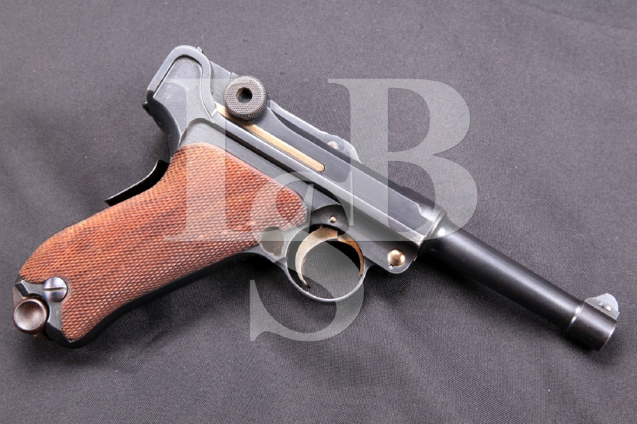 "DWM Model 1906 American Eagle Luger, Very Sharp & All Matching, Blue 4"" SA Semi-Automatic Pistol, MFD 1906-12 C&R"