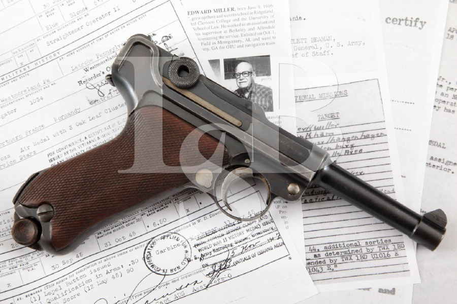 "DWM Model 1920 Commercial Luger, Documented WWII Bringback P.08, Blue 3 ¾"" Semi-Automatic Pistol & Paperwork, MFD 1921-28 C&R"