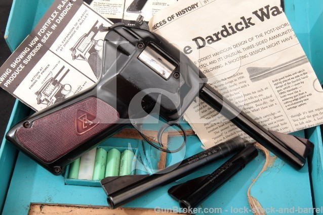 "Dardick Corp. Model 1500 .38 Caliber Tround 4 & 6"" Internal Magazine Revolver, Barrels, Box & AMMO!"