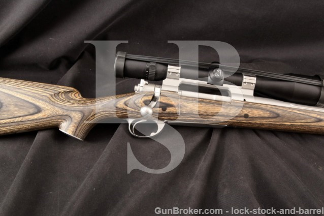 "David Miller Marksmen Safari Fluted Stainless 24"" Custom .375 H&H Bolt Action Rifle & Zeiss Scope"