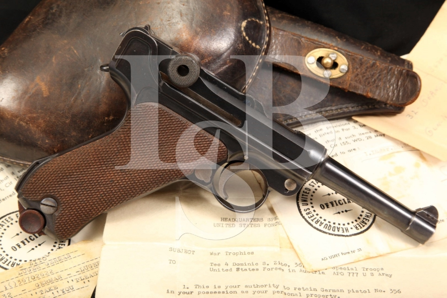Documented Bringback 1920 Commercial .30 Luger, Matching Serial Numbers & Holster, WWII C&R