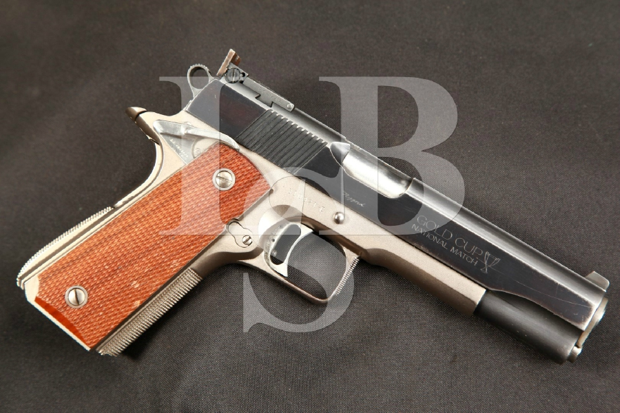 Don Nygord Custom Colt 1911A1 Commercial Frame / 70 Gold Cup National Match Slide 5 Blue Semi-Automatic Target Pistol, 1967 Frame