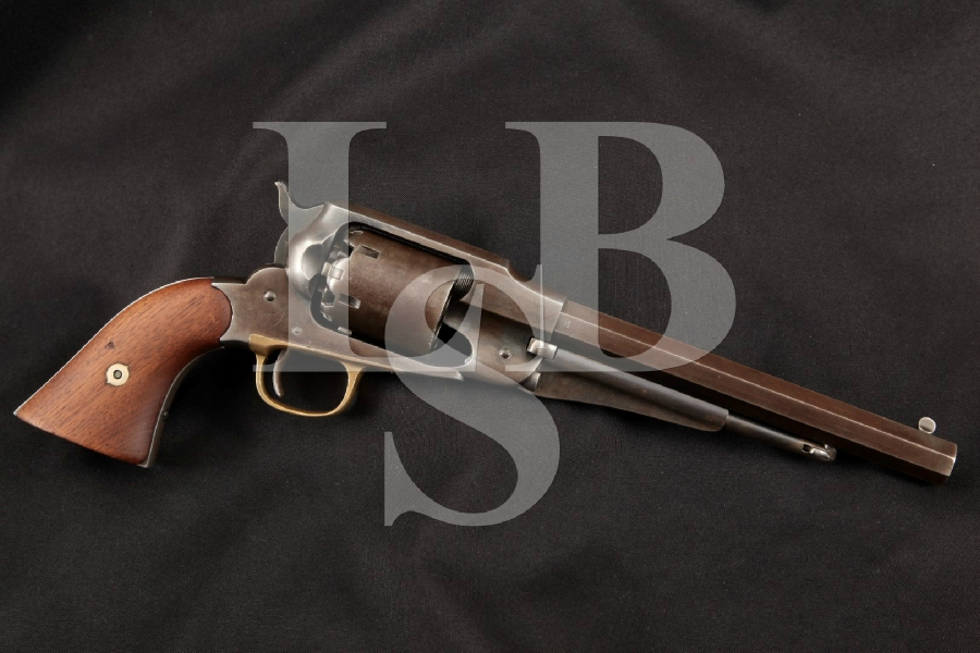 "E. Remington & Sons 1858 (1861) New Model Army, Octagonal Blue 8"" 6-Shot SA Single Action Pistol, MFD 1868 Antique"