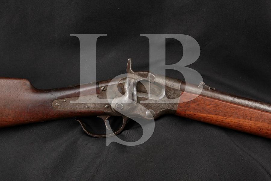 "E.G. Lamson Model Ball Repeating Carbine, Blue & Case 22"" RARE Lever Action Tube Fed Rifle, MFD 1865 Antique"