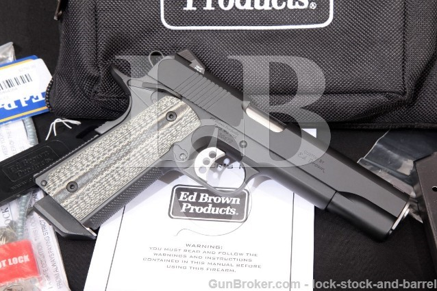 "Ed Brown Special Forces SF3-BB-CAL2 1911 5"" Single Action Semi-Automatic Pistol & Case Modern .45 ACP"
