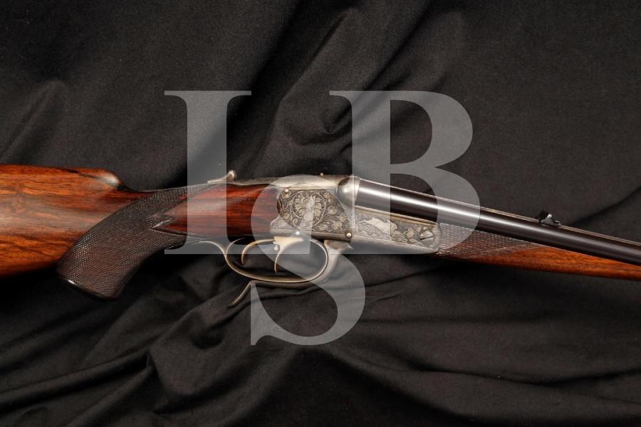 Engraved Fine German Cape Combination Gun SxS .410 Ga Shotgun .22 Cal Rifle