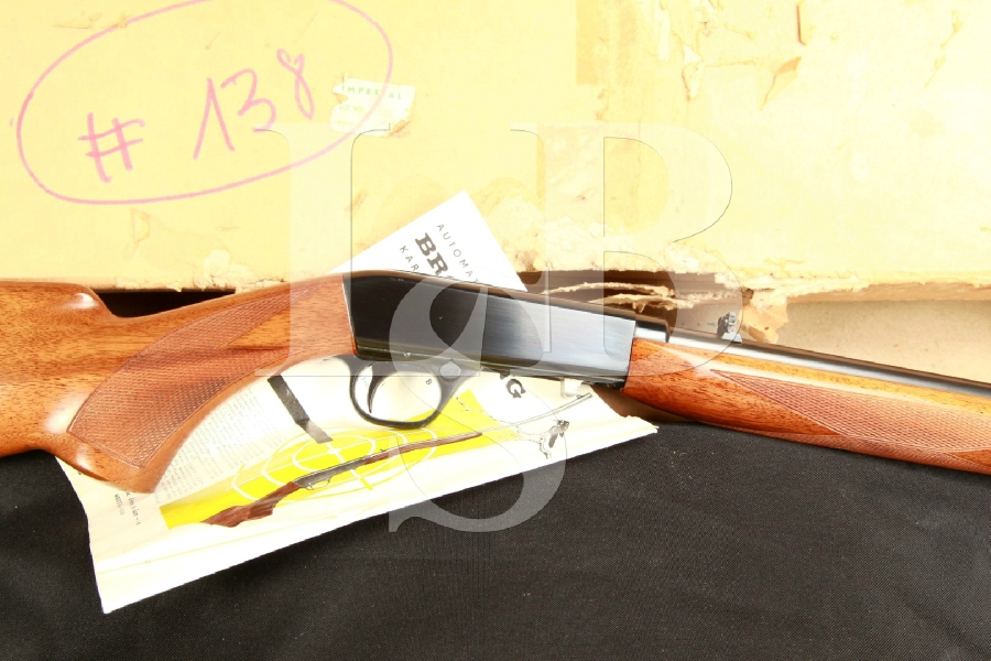 FN Fabrique Nationale Browning SA22 Solid Frame Semi Automatic Rifle & Box, MFD Pre 1956 C&R