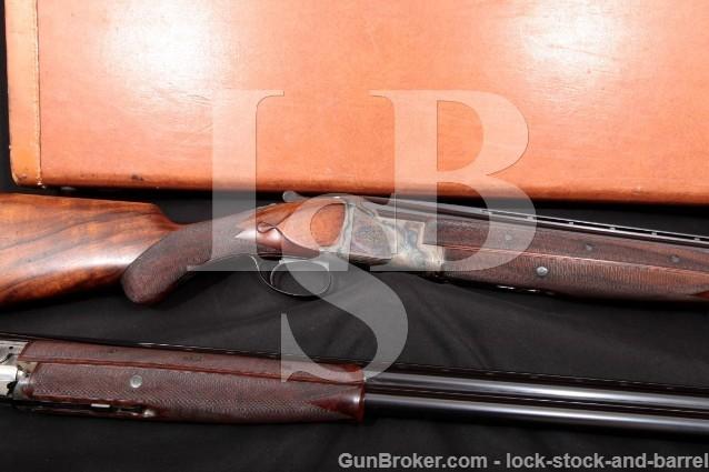 "Fabrique Nationale Custom FN Superposed Engraved C2 Grade Long Tang 12 Ga Two-Barrel Set 26"" & 30"""
