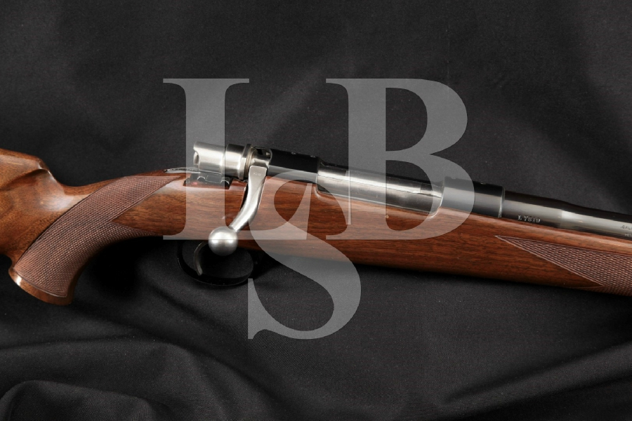 """Fabrique Nationale FN Browning Model High-Power Safari Grade Mauser, Embellished Blue 22"""" Bolt Action Rifle, MFD Late 1950's-60's C&R"""
