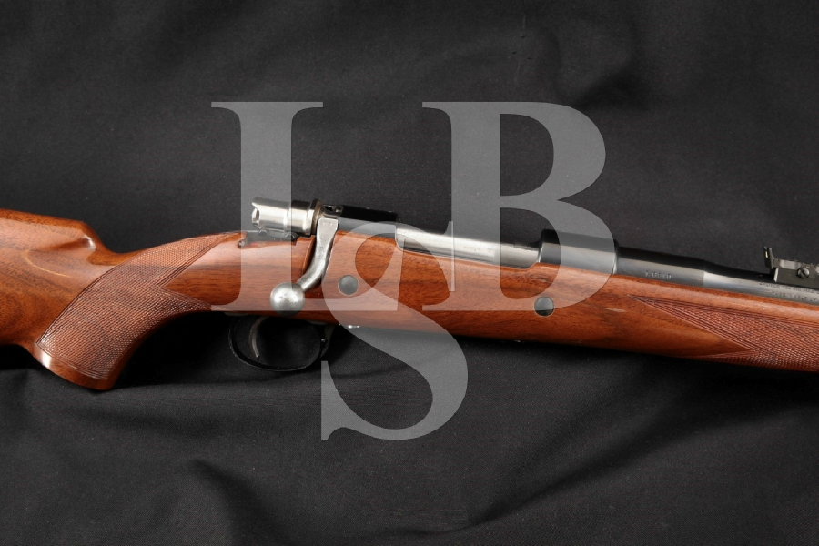 "Fabrique Nationale FN Browning Model High-Power Safari Grade Mauser, Embellished Blue 24"" Bolt Action Hunting Rifle MFD Late 1950's-60's C&R"
