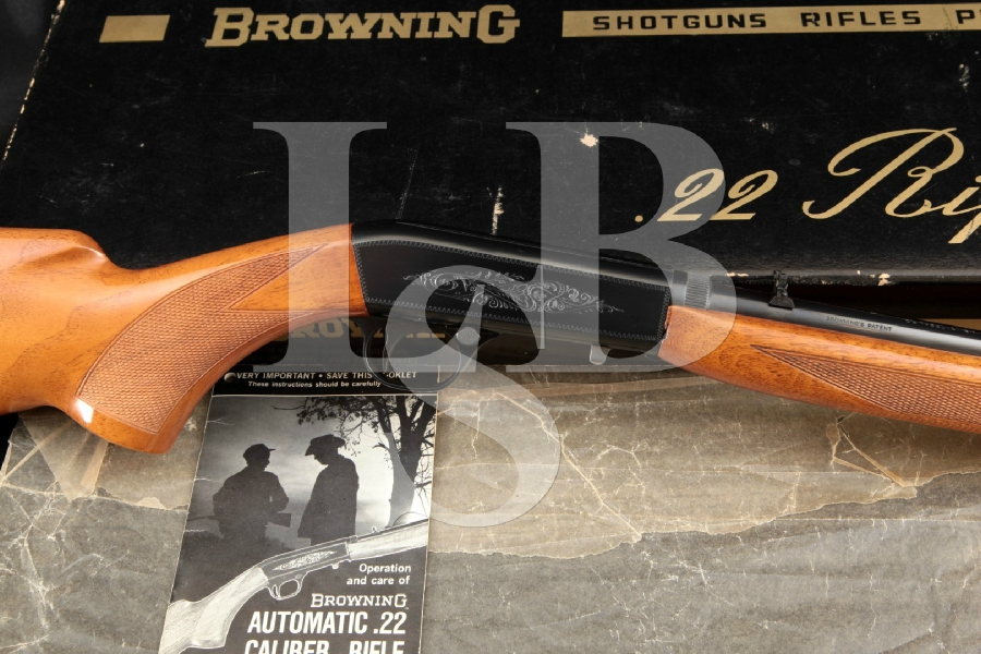 "Fabrique Nationale FN Browning Model SA-22 SA22 Grade I Engraved, Blue 19 3/8"" Semi-Automatic Takedown Rifle & Box, MFD 1967"