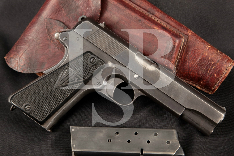 "Fabryka Broni FB Radom Model Vis 35 2nd Variation, Nazi Marked, Parts Matching, Blue 4 11/16"" WWII Semi-Auto Pistol & Holster, MFD 1940-41 C&R"