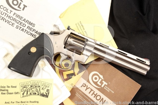 Factory E-Nickel Colt Python .357 Magnum mag DA Double Action Electroless Nickel Revolver & Box