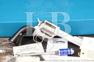 """Freedom Arms 1997 Premier Grade Stainless, 4 1/4"""" .44 Special, 44 SPL, Single Action Revolver & Box"""