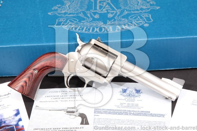 "Freedom Arms 83 Premier Grade 4 3/4"" .454 Casull 5-Shot Single Action Revolver & Box, MFD 2009"