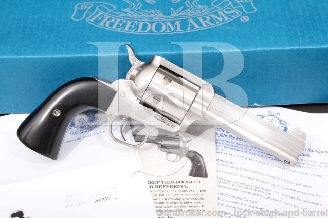Freedom Arms 97 Premier Grade Stainless .357 Mag Octagonal 6-Shot SA Single Action Revolver & Box