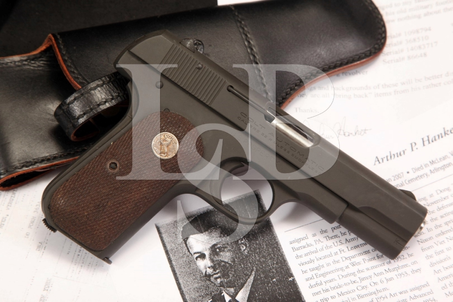 General Arthur Hanket Bringback Issued Colt Model 1903 General Officers Pistol C&R