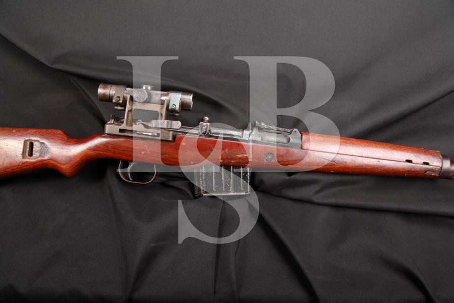 German G43 (Gewehr 43, Karabiner 43 or K43) Semi-Auto Rifle with ZF 4 Scope & Mount, Nazi Marked, Nonimport, C&R