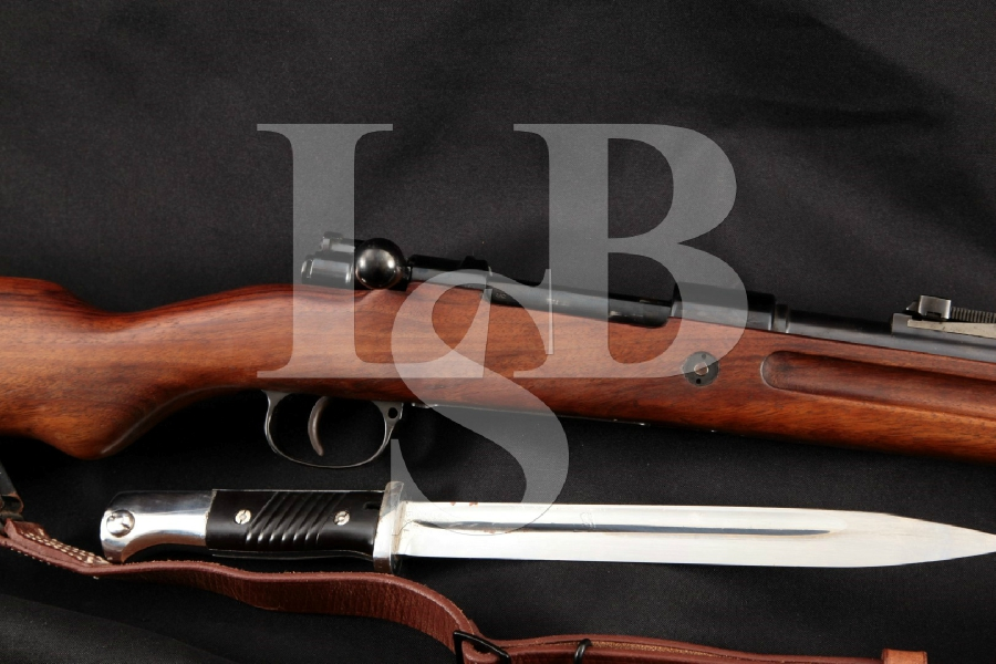 "German Mauser Standard Modell 1933, Rare Portuguese Contract Carbine, Blue 23 ½"" Bolt Action Rifle, Sling & Bayonet, MFD 1937 C&R"
