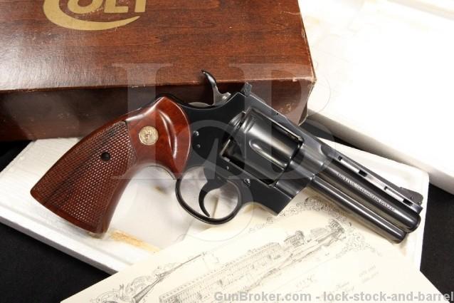 German Proofed Colt Python .357 Magnum Revolver Rare Gun With Box, & Colt Letter - MFD 1973