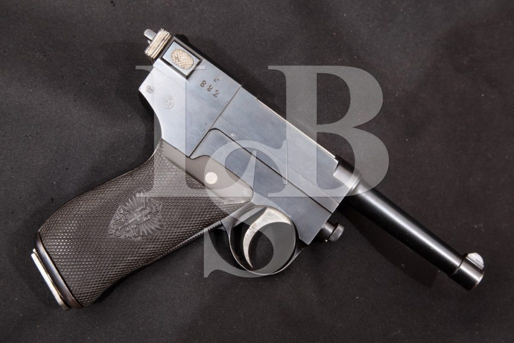 Glisenti Metallurgica Brescia Gia Tempini Mbt Model 1910, Blue, 3 SA Semi-Automatic Pistol, MFD 1910-1914, C&R 9mm Luger
