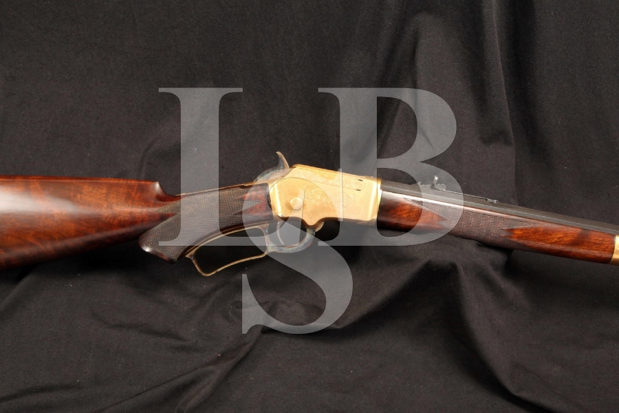 Gold Plated & Engraved by J. Lowe, Marlin Model 1891 .32 RF Lever Action Rifle, MFD 1893 – Antique