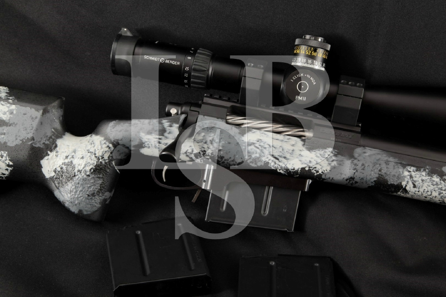 "Griswold Brothers Custom Defiance Precision Model Deviant, Heavy Black 26"" Bolt Action Rifle, Schmidt & Bender Scope & More"