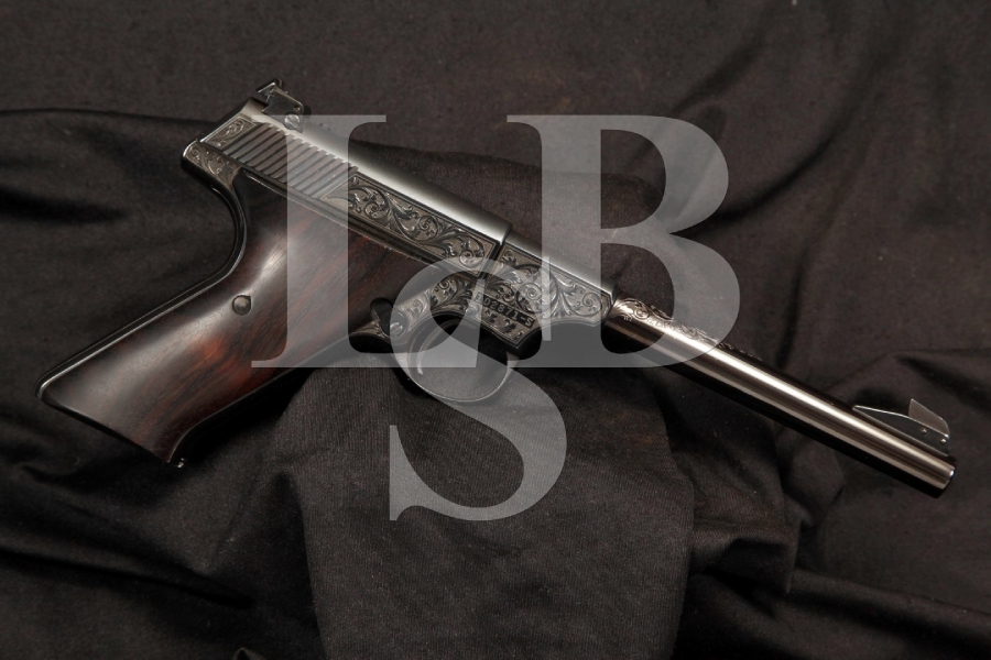 Hand Engraved Colt Woodsman 2nd Series Target Model 22 LR Semi Auto Pistol C&R