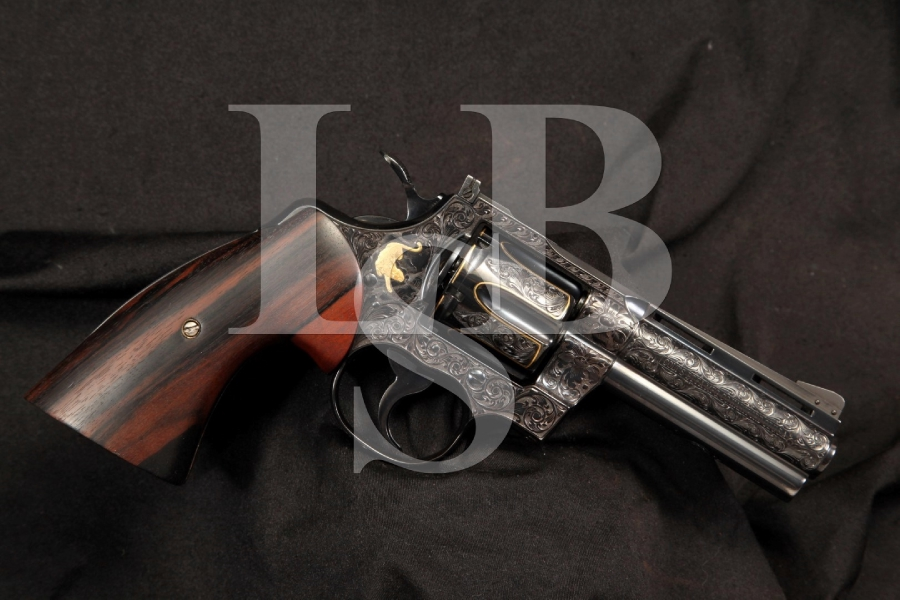 Hand Engraved & Gold Inlaid Colt Python .357 Magnum Double Action Revolver