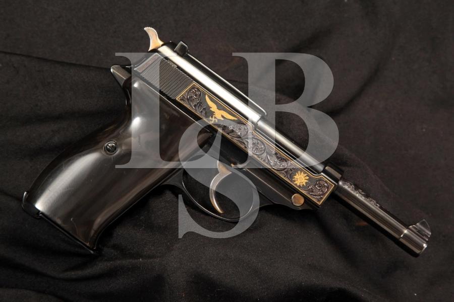Hand Engraved & Gold Inlaid Nazi WWII Mauser P38 9mm Semi Auto Pistol C&R OK