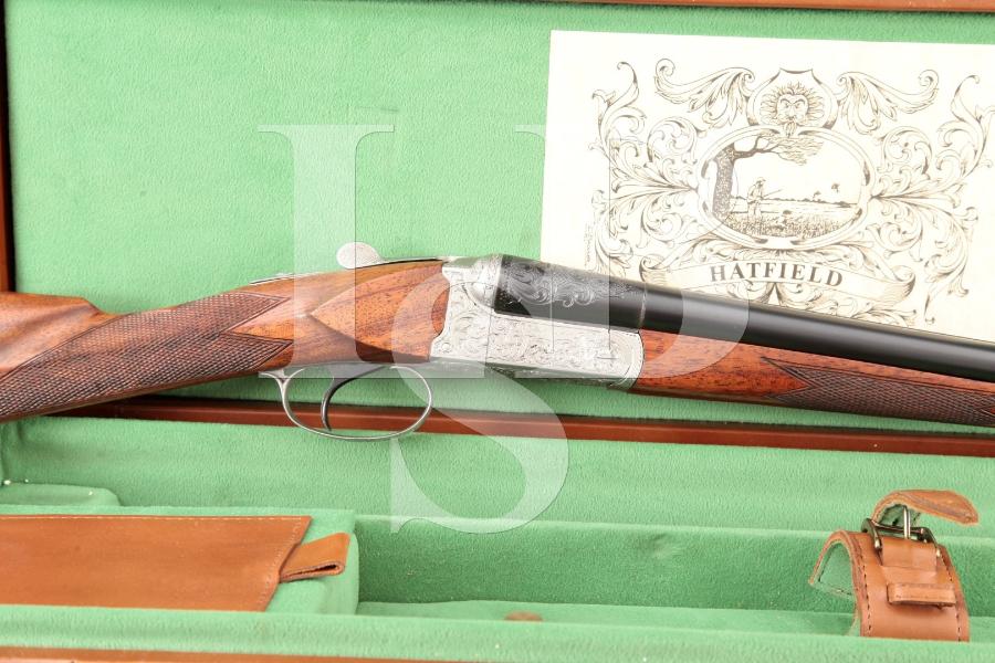 Hatfield Custom Sporting Boxlock 20 Gauge Coin & Blue Finished 26 INCH SxS Double Barrel Shotgun & Case, MFD Ca. 1988