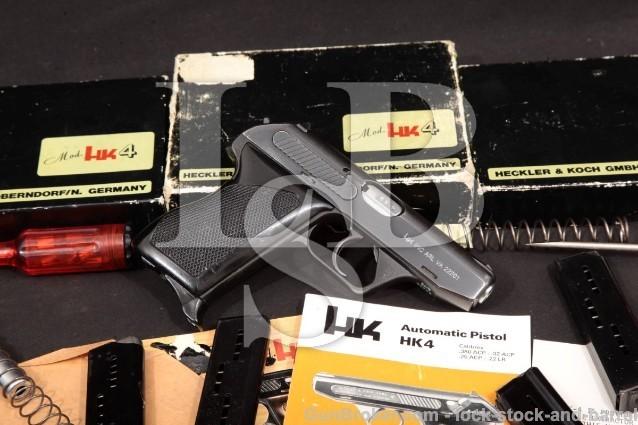 Heckler & Koch HK H&K HK4 Bund BZV & Conversions Pistol & Kits: .22 LR, .32 & .380 ACP, MFD 1973