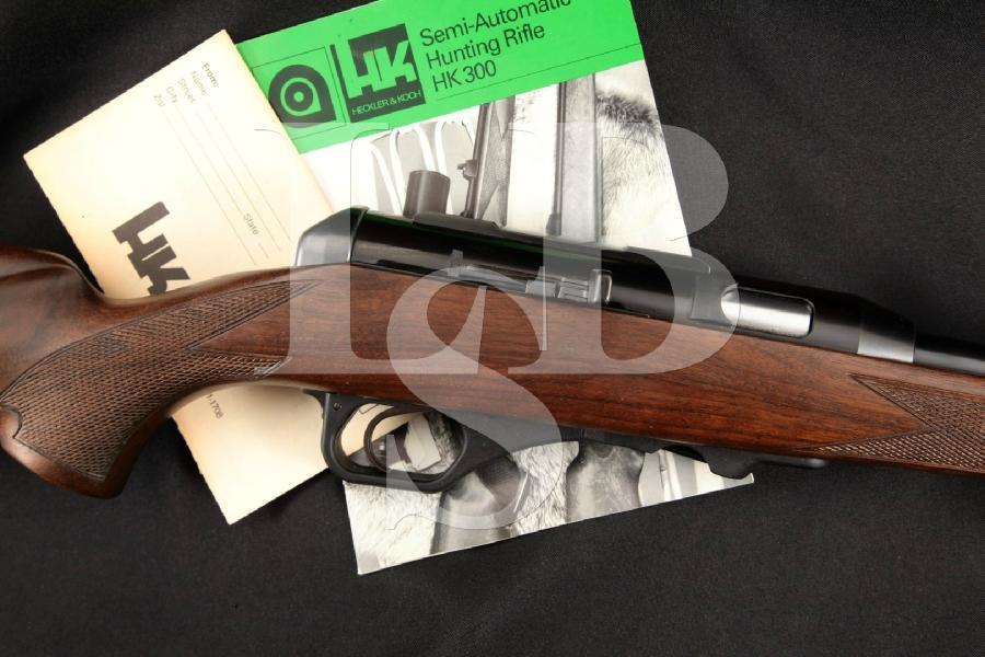 "Heckler & Koch H&K HK Model 300 M300, Blue & Black 19.7"" Semi-Automatic Rifle, No Magazine MFD 1988"
