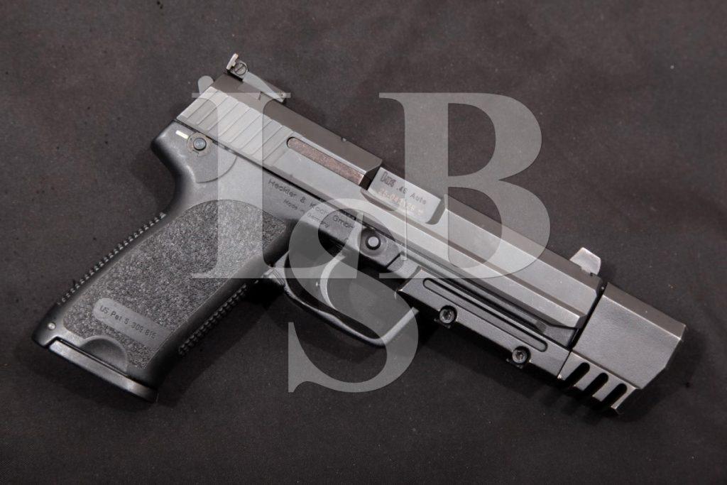"Heckler & Koch H&K Hk Model USP 45 Match, Black 6.02"" SA/DA Semi-Automatic Target Pistol & Weight, MFD 1998 .45 ACP"