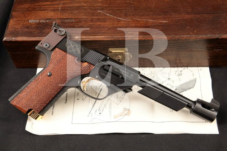High Standard 1980 Olympic 107 ISU Commemorative, 1 of 1,000 Blue 6 5/8 SA Semi-Automatic Target Pistol & Case, ATF C&R