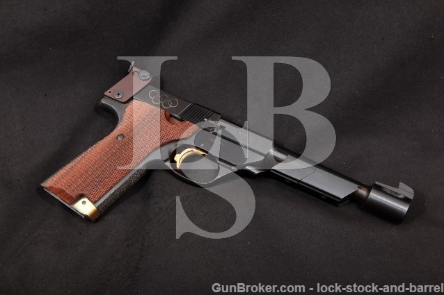 "High Standard Hi-Standard 1980 Olympic 1 of 1000 Blue 6"" Semi-Auto Pistol & Weights, 1980 C&R .22 S"