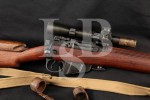 "Holland & Holland H&H Upgraded Enfield No4 Mk1-T Sniper Model & Scope, Import-Marked, Black 25"" Rare WWII Bolt Action Rifle & Sling, MFD 1944 C&R"