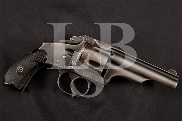 "Hopkins & Allen / Merwin Hulbert Medium Frame Folding Hammer Blue 3 ½"" DA Double Action Revolver"