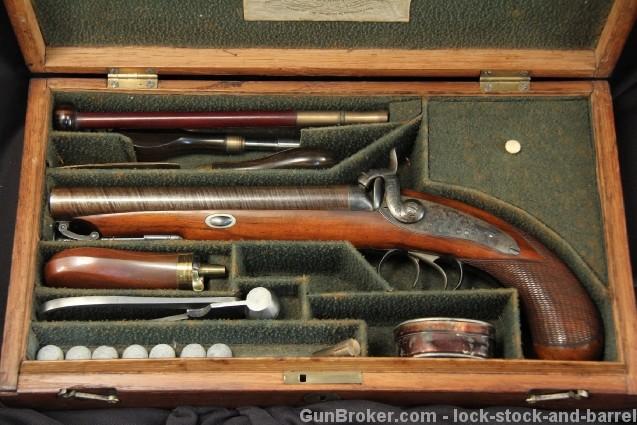 Original Cased J. Beattie .655 Cal. Howdah Pistol