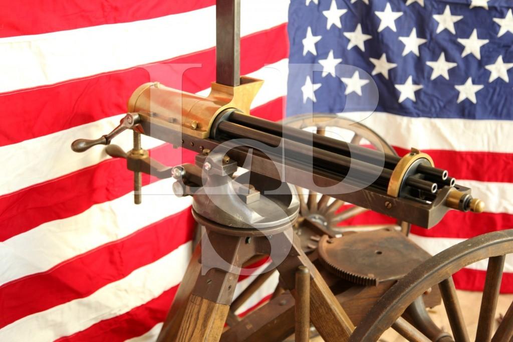 Tippmann Arms ¾ Scale .38 Special SPL Model 1862 Gatling Gun, Carriage & Tripod Mount