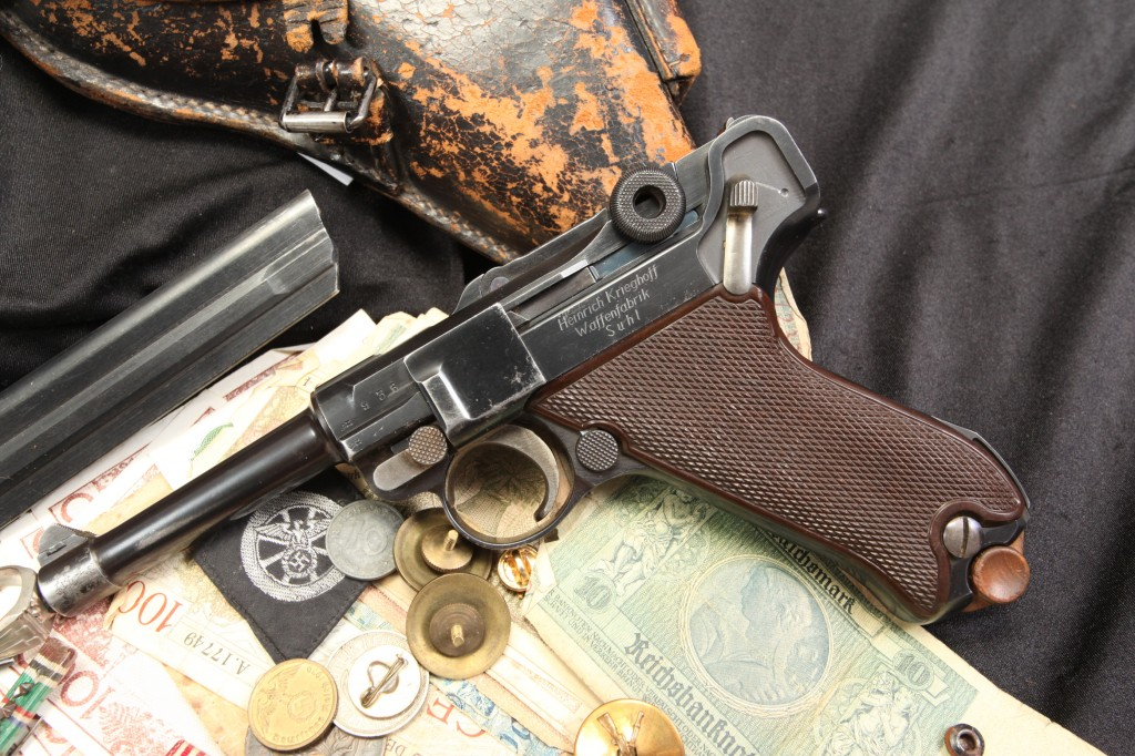 Matching Krieghoff 1934 Commercial Luger 9mm Semi-Auto Pistol Documented 82nd Airborne Bringback Ensemble