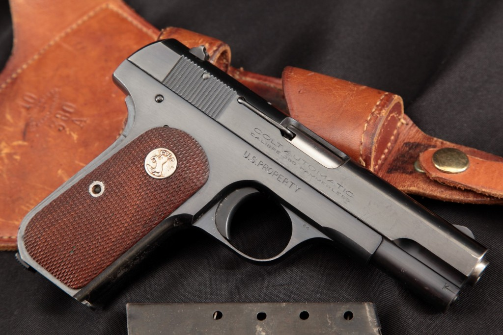 Colt Model 1908 General officer's Pistol Issued to Gen. Bailey & Reissued to Gen. Hays