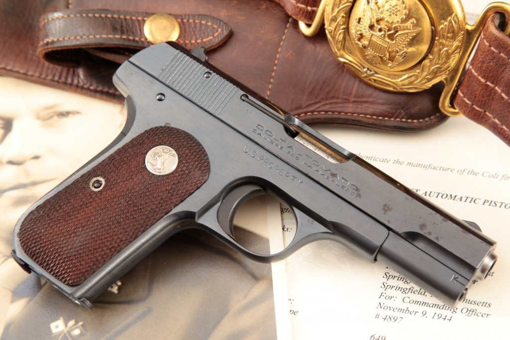 Colt Model 1908 .380 Auto General Officer's Pistol, Issued to Brigadier General Terrence John Tully