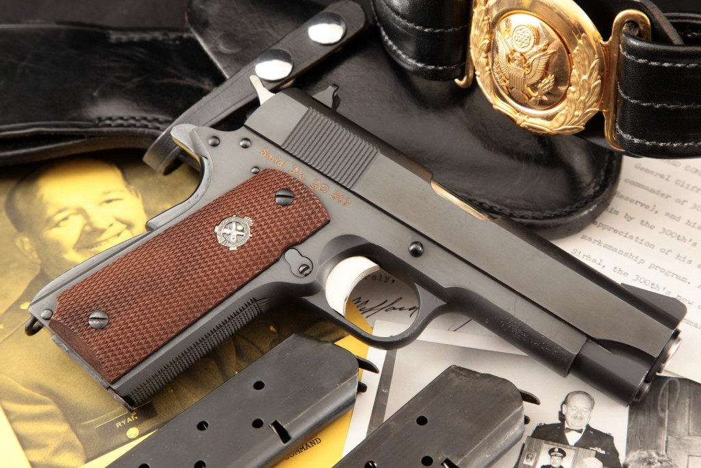 Rock Island Arsenal Model M15 General Officer's Pistol Issued to General Clifford G. Ryan