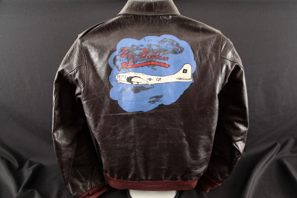 James Raymond – Sky Goddess – 550th Bomb Squadron Painted A2 Flight Jacket