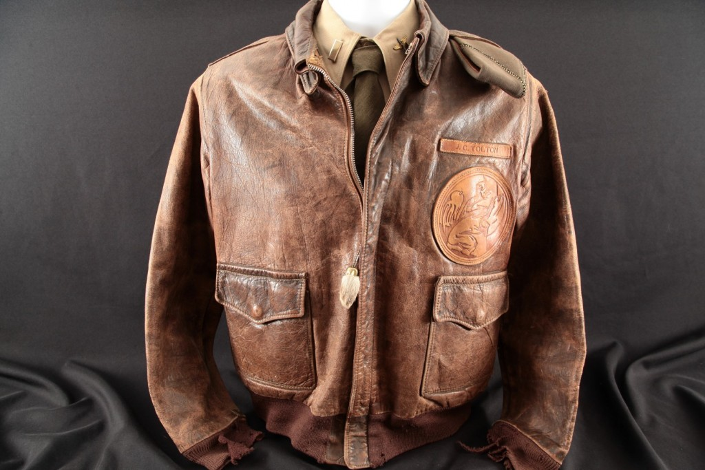 Justin C. Tolton – 448th Bomb Squadron Named & Patched A2 Flight Jacket